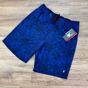 Spyder Hydro Tristar Boardshort, blue, men's sz M